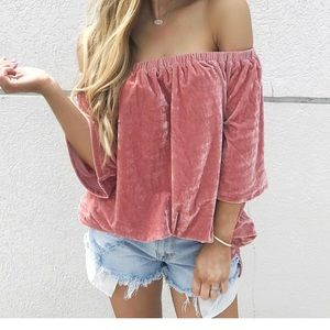 Tops - Velvet OTS Top